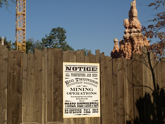 Big Thunder construction wall