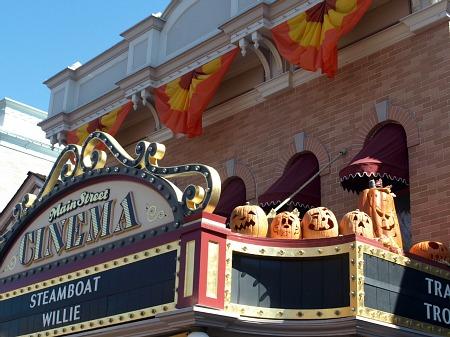 Main Street at Halloween