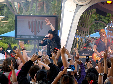 Mitchel Musso performs at Disneyland