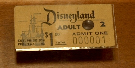 Disneyland ticket number one