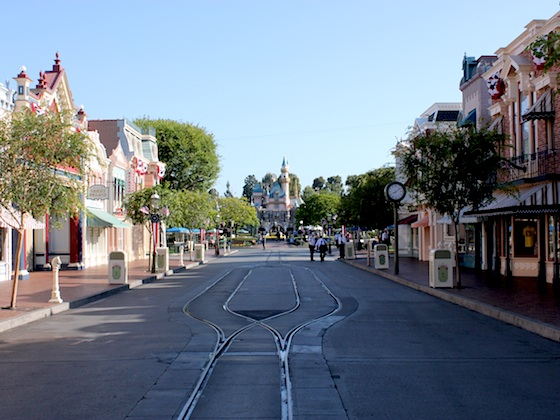 Empty Main Street at Disneyland