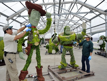 Woody and Buzz at the Epcot International Flower & Garden Festival