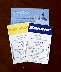 Fastpasses and resort cards
