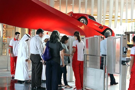 Opening day visitors at Ferrari World