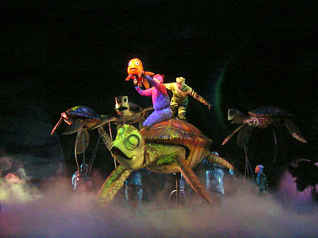 On stage at Finding Nemo