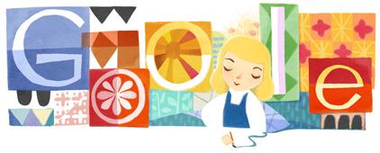 Google's Mary Blair doodle