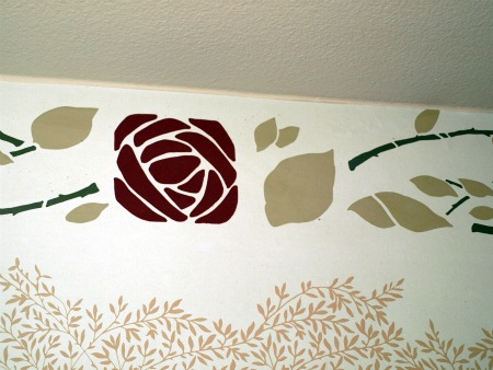 Guest room wallpaper detail