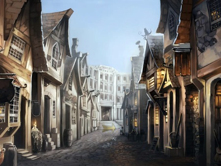 Diagon Alley and Gringotts exterior