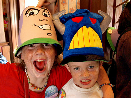 Silly theme park hats