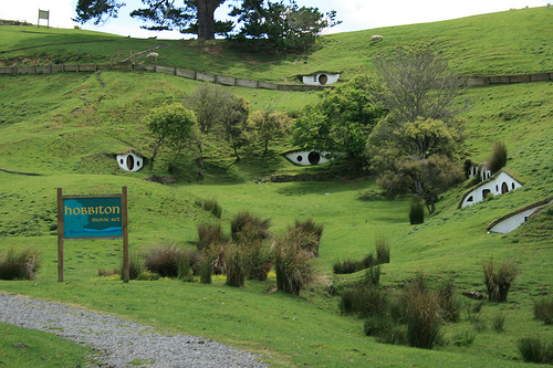 Hobbiton. Photo from Wikimedia Commons