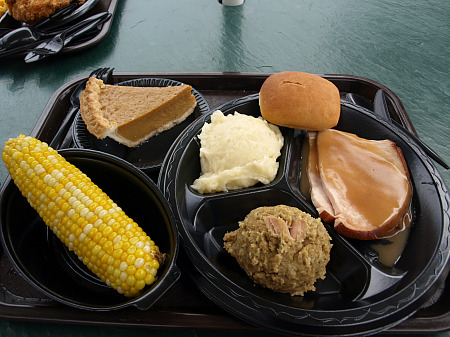 Holiday World Thanksgiving-style dinner