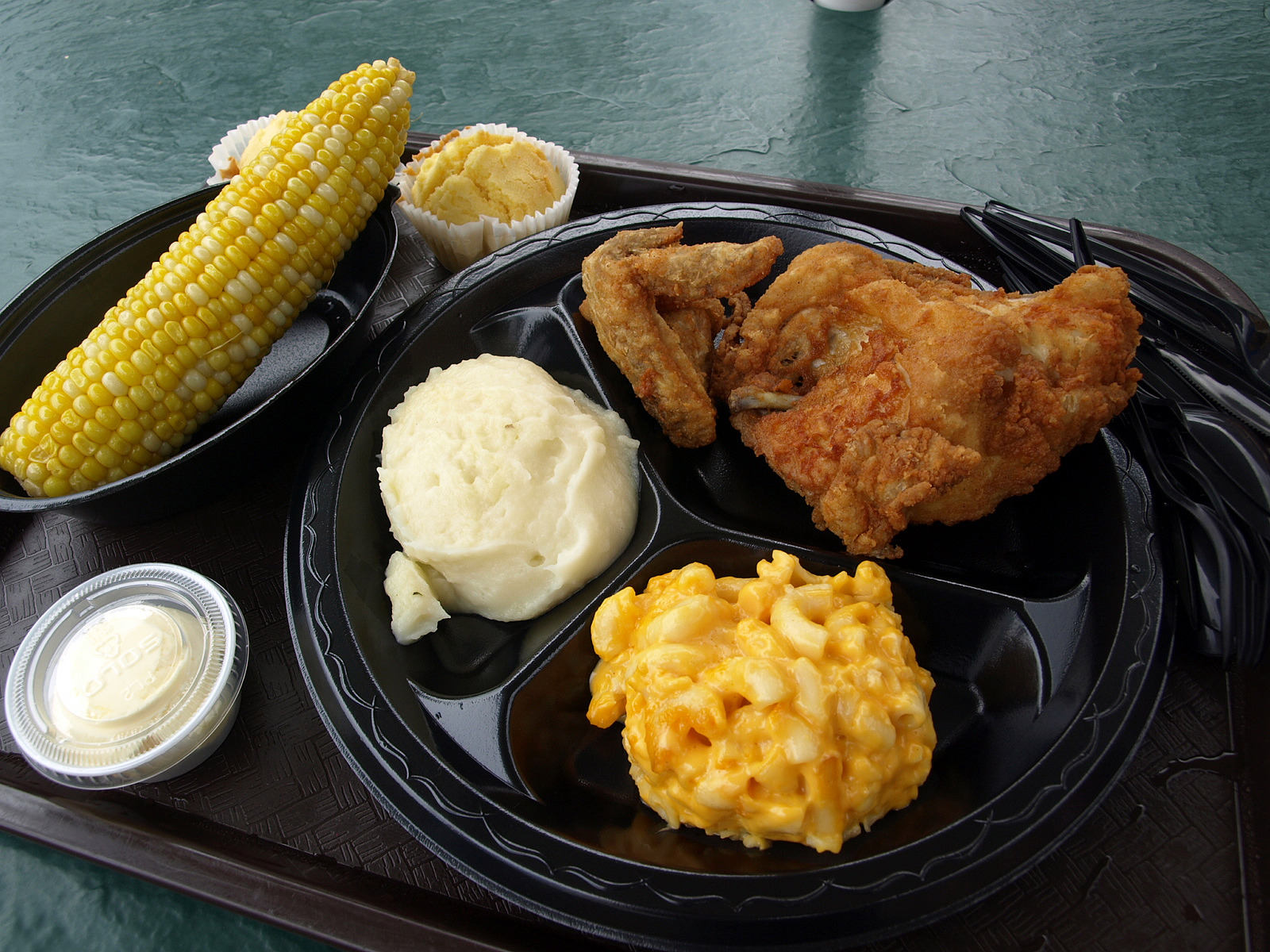 Holiday World fried chicken lunch