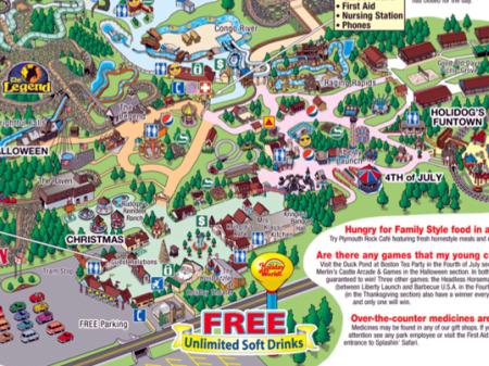 Holiday World Amusement Park Map Images