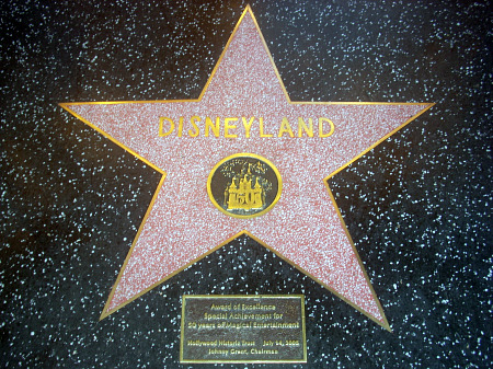 Disneyland's start on the Walk of Fame
