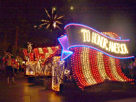 Disney Electrical Parade America Float