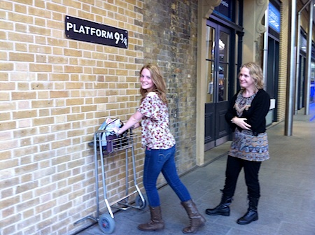 Platform 9 3/4 at Kings Cross Station in London