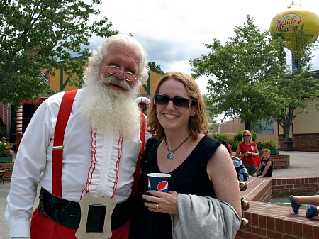 Laurie and Santa and Holiday World