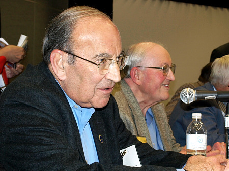 Marty Sklar, left, and Blaine Gibson