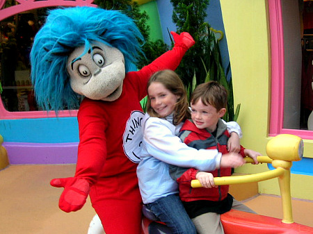 Natalie and Brian with Dr. Seuss' Thing 2 in 2006
