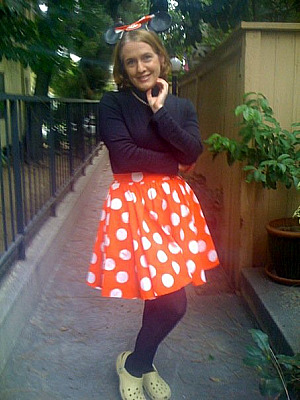 Laurie as Minnie Mouse