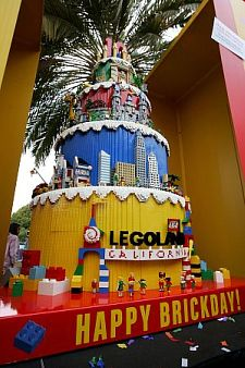 Legoland's birthday cake. Image courtesy Legoland California.