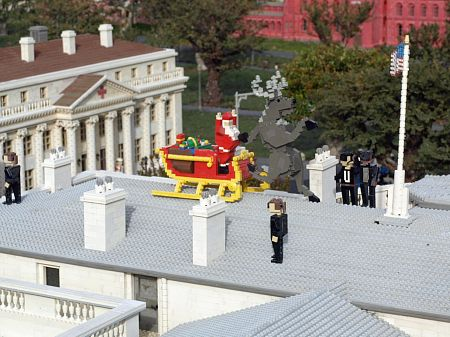 Santa busted at the White House