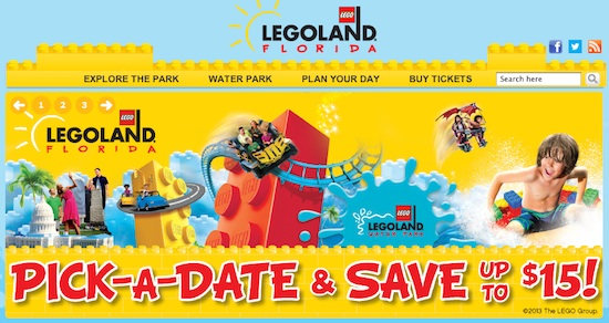 Legoland Florida website