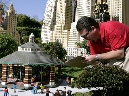 Counting the people in Legoland's Miniland
