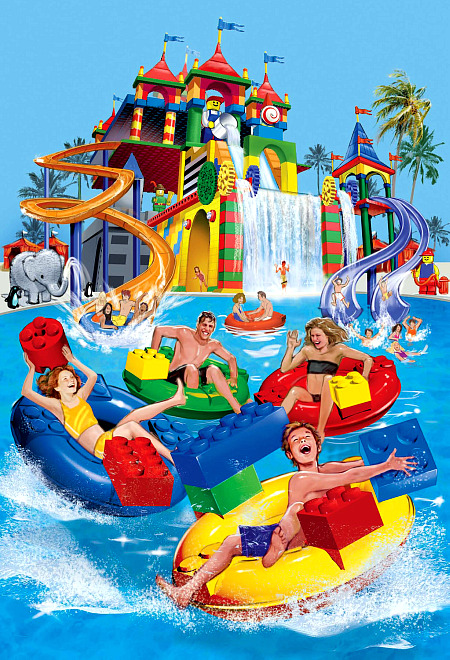 Artist concept of the Legoland Water Park