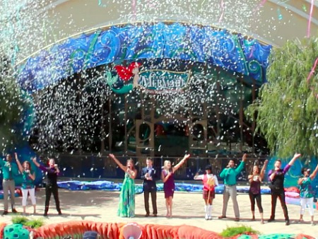 The Little Mermaid opening ceremony at Disney California Adventure
