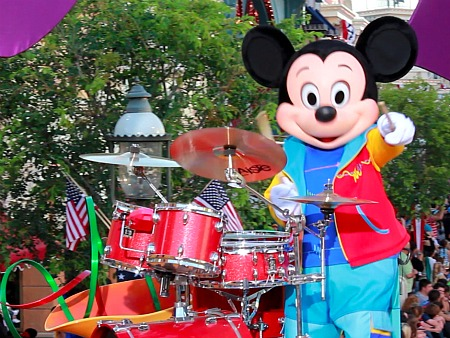 Mickey Mouse in Disneyland's Soundsational Parade