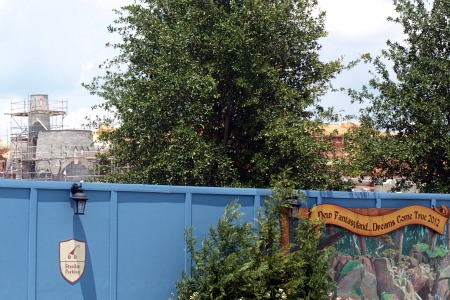 Fantasyland construction wall