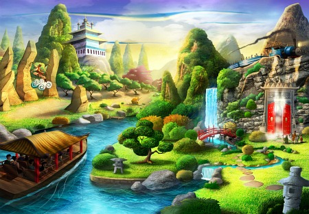 More concept art for Monkey King theme park