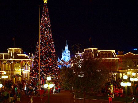 Main Street USA at Walt Disney World's Magic Kingdom at Christmas