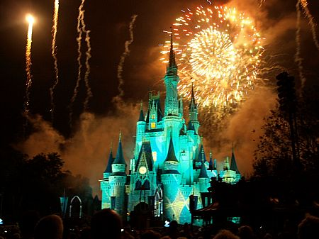 Fireworks at Cinderella's Castle