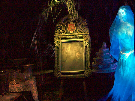 The ghostly bride in Disneyland's Haunted Mansion