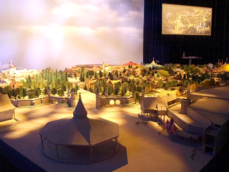Scale model of the New Fantasyland