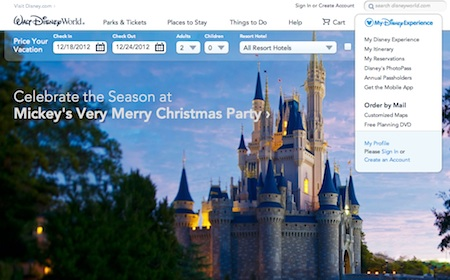 New WDW website