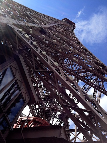 Close-up of Eiffel Tower