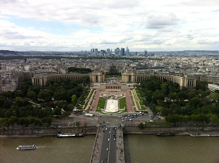 View of Trocadero and La Defense, from the Eiffel Tower
