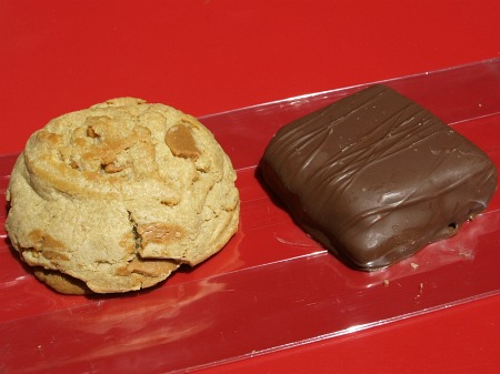 Peanut butter cookie and the peanut butter sandwich