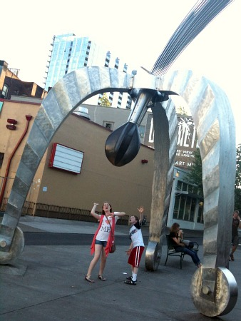 Kinetic sculpture in Portland, Oregon
