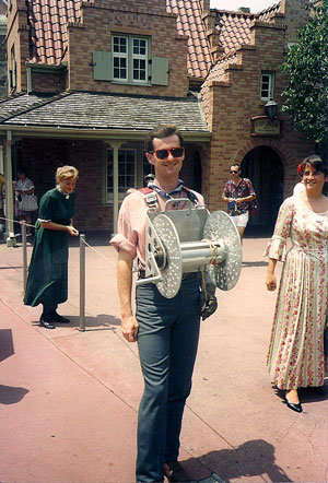 Robert on the Magic Kingdom parade rourte