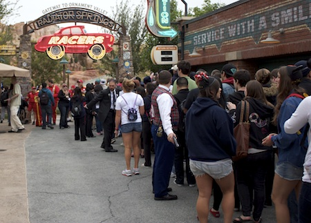 Lines outside Radiator Springs Racers at Cars Land