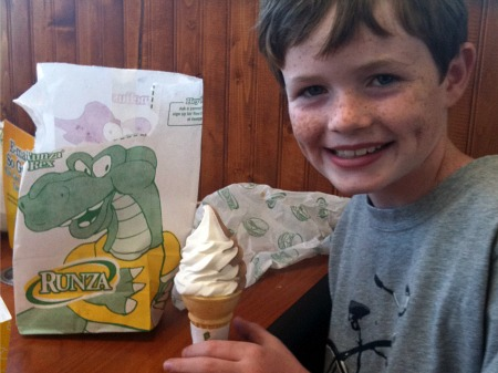 Ice cream at Runza, in Nebraska