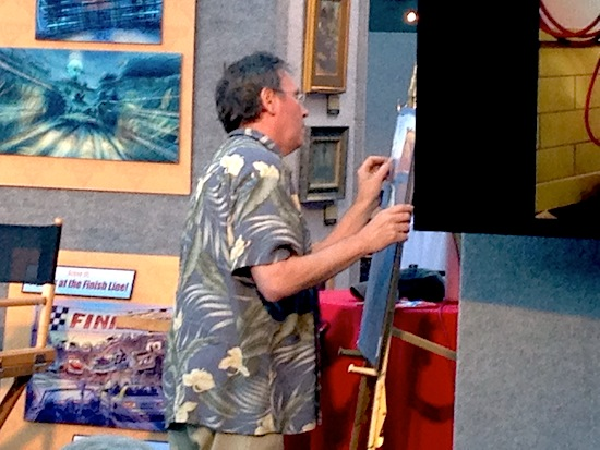 Bill Cone at the easel