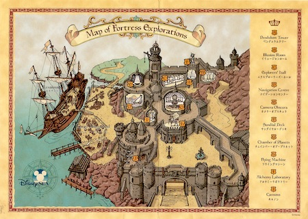 Map of Fortress Explorations