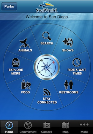 SeaWorld iPhone app