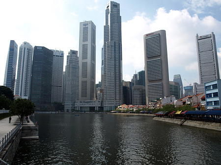 Singapore, from the river