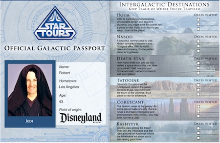 Star Tours Passport